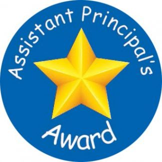 Laser printed Assistant Principal award stickers