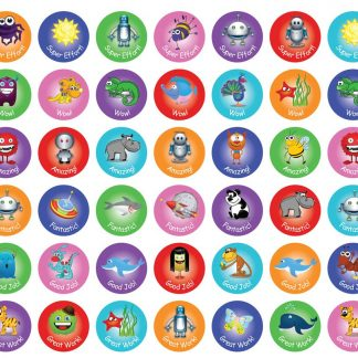 Assorted 20mm Reward stickers