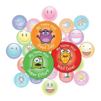 Cute Monster Round Sticker Gift Pack
