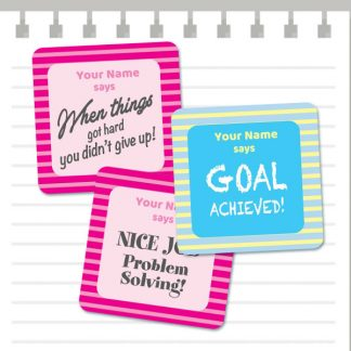 Growth Mindset patterns - Pink and Blue from Teacher Stickers