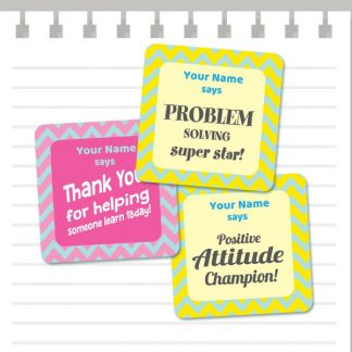 Growth Mindset Patterns - Pink and Yellow from Teacher Stickers