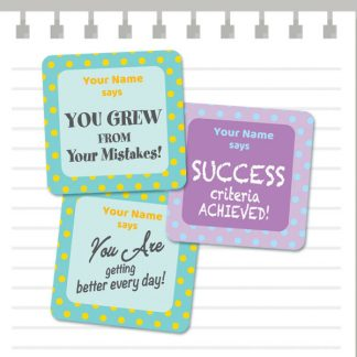 Growth Mindset Patterns Purple and Green from Teacher Stickers