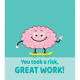 Growth Mindset Poster - You Took a Risk Great Work