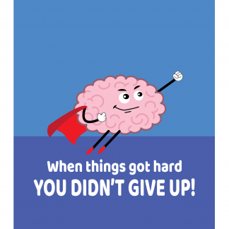 Growth Mindset Poster - When Things Got Hard You Didn't Give Up
